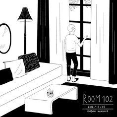 102号室「今日もいい天気☀️」  #illustration #イラスト#mutsumi_room