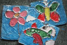 Strefa Dzieci - Malowanie na folii aluminiowej
