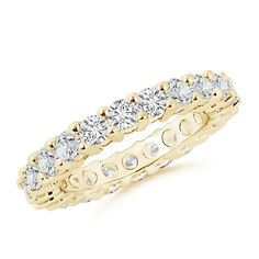 This women's diamond wedding band is classic and elegant.Prong-Set Round Diamond Eternity Wedding Band