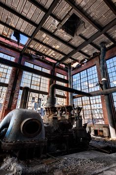 Upper story of the abandoned power plant at Ashley Coal Breaker.