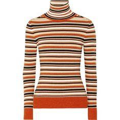 9baa91ccc84fc5 JoosTricot Striped metallic knitted turtleneck sweater ( 610) ❤ liked on Polyvore  featuring tops