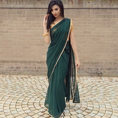 Are you researching for the best quality Elegant Design Indian Sari also items such as Elegant Saree also Latest Elegant Designer Sari Blouse if so then CLICK Visit link for Indian Dresses, Indian Outfits, Sari Dress, Sari Blouse, Modern Saree, Plain Saree, Simple Sarees, Saree Trends, Saree Look