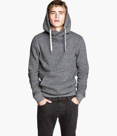 Gray hooded sweatshirt, gift for men, men's fashion   H&M US