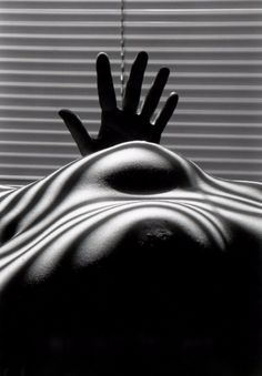 Available for sale from Odon Wagner Contemporary, Lucien Clergue, Nu aux Seins Zebres et a la Main Tendue, Arles Silver gelatin print (printed in Nude Photography, Black And White Photography, Venus Of Willendorf, Female Body Art, Neon, French Photographers, Black N White, Western Art, Close Image