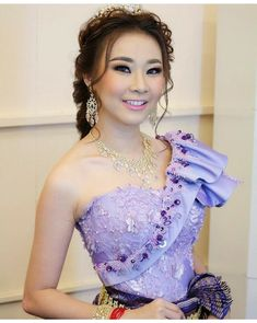 Costume of Khmer wedding Khmer Wedding, Wedding Costumes, Lace Corset, Formal Dresses, Fashion, Dresses With Sleeves, Cambodia, Dresses For Formal, Moda