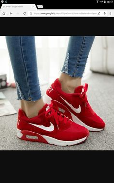 best sneakers b1392 4f0b6 Nike Red Sneakers, Red Adidas Shoes, Red Sneakers Outfit, Sneakers Fashion,  Red