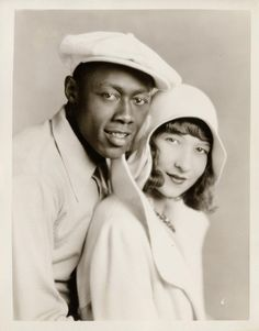 """ STEPIN FETCHIT, and wife DOROTHY STEVENSON (1929)Fox, Fetchit became a Fox contract player in 1929 after several years of film making. This portrait with his first wife was distributed at the time..."