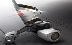 ••Peugeot XB1•• by Thierry Fischer / Kevin Biolluz / Karim Bennani / Frederic La Sciellour  2011-03 via YankoDesign • wheeled exoskeleton efficient public transportation