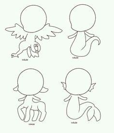 Criaturas Mitológicas em forma  de desenho fácil