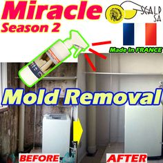 [S$23.90]♥Mold Removal Miracle Season2♥Contaminated cleaning / Widely used /Kitchen/ toilet/bathroom/car/grease/sinks/drains all OK/Made KOREA/Gift/Wife/Home Accessories/dress Cleaner