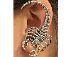 Scorpion Ear Wrap Silver Scorpion Ear Cuff Scorpion Earring Scorpion Jewelry Insect Jewelry Insect Earring Zodiac Jewelry Scorpio Jewelry