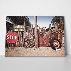 Canvas print ROUTE 66 OLD THINGS by Sticky!!!