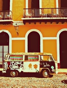 Have always wanted a hippie bus (:  We could travel the world out of this thing !