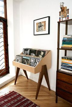 Record Stand Flip through albums face first, just like the bins at the record store. The Atocha Design Record Stand is heirloom-quality furniture designed to show off your music. Decor, Furniture, Furnishings, Interior, Home Diy, Home Furniture, Retro Home Decor, Retro Home, Home Decor