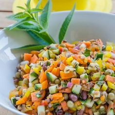 Healthy salad with beans