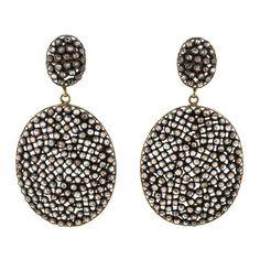Pre-owned 4.00CTW DIAMOND DROP EARRINGS ($1,525) ❤ liked on Polyvore featuring jewelry, earrings, accessories, oval earrings, 14 karat gold earrings, womens jewellery, 14 karat gold jewelry and pandora jewelry