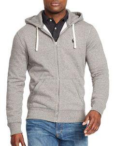 Polo Ralph Lauren Full-Zip Fleece Hoodie Men's Alaskan Heather Large