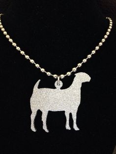 Glitter Finish Show Goat Necklace **MORE COLORS**
