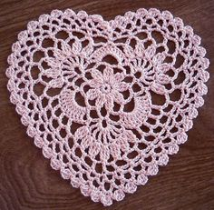 lace doily crochet pattern, craft, cluster heart, crochet hearts, lace crochet patterns, heart crochet pattern, crochet doilies, crochet lace patterns, lacecrochet flickr