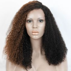 Half wigs for black hair by half brown half black textured lace wig who wan Natural Hair Wigs, Natural Hair Styles, Short Hair Styles, Unique Hairstyles, Hairstyles With Bangs, Braid Out, Short Wavy Hair, Half Wigs, Hair Videos