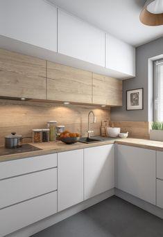 Simple Kitchen Design, Kitchen Room Design, Kitchen Cabinet Design, Home Decor Kitchen, Home Kitchens, U Shaped Kitchen Interior, Modern Kitchen Interiors, Modern Kitchen Cabinets, Kitchen Modular