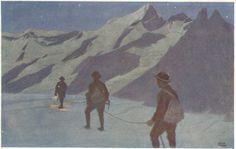 Der Bergsteiger und der Kletterer in der Kunst | Seite 2 | festivaltour.de Mountain Pictures, Horses, Darkness, Hiking, Painting, Magic, Random, Flooring, Graphics
