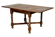 Late-19th-century English barley-twist rectangular oak wood dining table. Table is not expandable. No maker's mark.