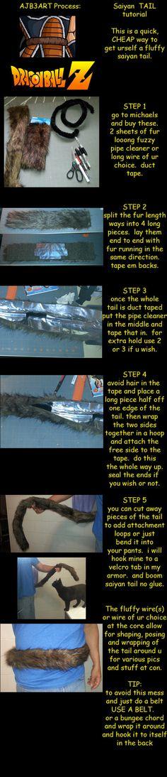 saiyan TAIL step by step copy by ajb3art on DeviantArt