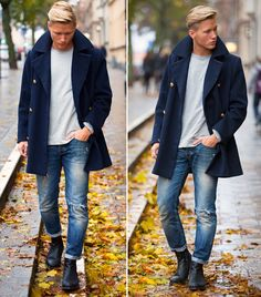 Mens fashion and style - Peacoat - yes or no? #mens #fashion #style #coat