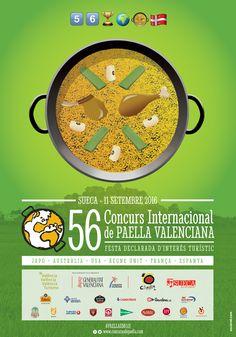 Cartel oficial del 56 Concurs Internacional de Paella Valenciana de Sueca 2016