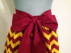 Cute FSU Colors Garnet and Gold Chevron Print  Full Gathered Skirt on Etsy, $40.00