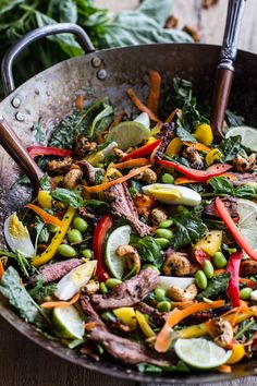 Thai Steak Salad w/Sweet   Spicy Tahini Dressing and Sesame Chili-Lime Cashews by halfbakedharvest #Salad #Steak #Thai #Summer