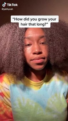 Natural Hair Growth Tips, Protective Hairstyles For Natural Hair, How To Grow Natural Hair, Long Natural Hair, Grow Long Hair, Natural Hair Styles, How To Grow Hair Faster, Curly Hair Tips, Curly Hair Care