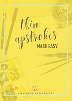 Getting that thin, skinny upstroke is something all beginner brush lettering…