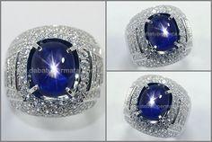 Natural No Heat KASMIR Blue SAFIR Double Star. 12 Ray - SPS 241