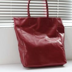 Oversized Eco Vegan Leather Lambskin Tote Bag With Little Purse Inside aab78af635705