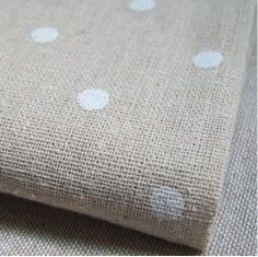ZAKKA linen fabric white dot linen cotton fabric 155*100cm  ML005 Free shipping US $10.99