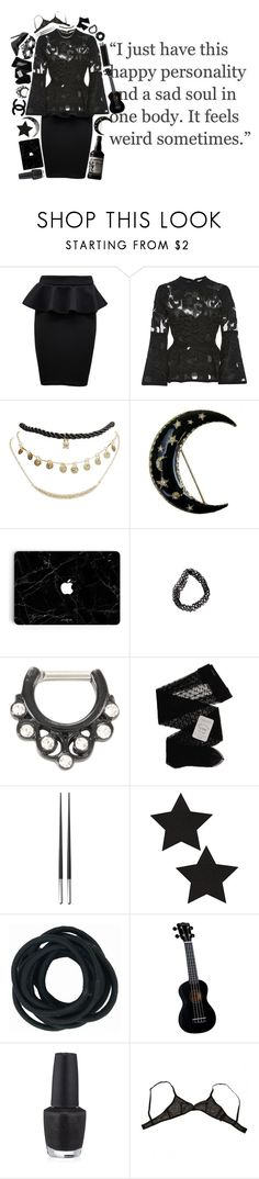 """""""-thats represented by my depressed thoughts.-"""" by indigocain ❤ liked on Polyvore featuring WearAll, Elie Saab, Wet Seal, Chanel, Gerbe, Christofle, Masquerade, Chloé, OPI and Eres"""