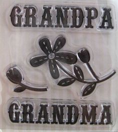 "We R Memory Keepers ""Grandparents"" Family Keepsake Clear Stamps, 3 Clear Acrylic Scrapbooking Stamps 3""x3"" by SimplyCraftSupplies on Etsy"