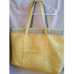 Large Americana by Sharif Tote Yellow, quilted large Americana tote. Vera Bradley look alike, NWOT never used. Two zippers on the inside make for keeping items seperate when traveling. Sharif  Bags Totes