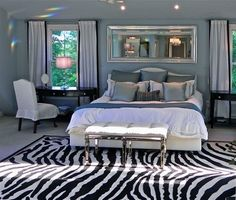 How to apply zebra patterns in a modern interior design