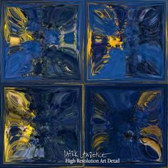 Modern Tile Art   Mediterranean Blue   Contemporary Abstract Painting