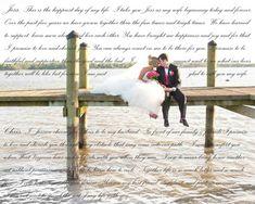 "Anniversary Gift 30x40"" Wedding Lyrics Canvas Wedding Artwork on Canvas"
