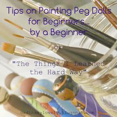 Ordinary Lovely: Tips for Painting Peg Dolls for Beginners By a Beginner (and some step-by-step photos of a recent project) (Small Wood Crafts People) Wood Peg Dolls, Clothespin Dolls, Wood Toys, Clothespin Crafts, Wooden Pegs, Wooden Diy, Doll Crafts, Diy Doll, Fairy Crafts