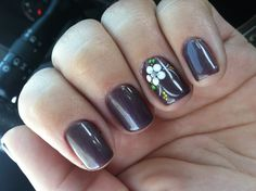 Gel manicure cute nail art