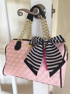 Betsey Johnson Be Mine Medium Speedy Blush Pink & Black Pink Black, Betsey Johnson, Blush Pink, What To Wear, Medium, Wedding, Ebay, Light Rose, Valentines Day Weddings