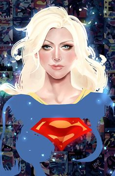 The Ladies of DC and Marvel Comics by Whitney Jiar - Supergirl Marvel Comics, Arte Dc Comics, Ms Marvel, Comic Book Characters, Comic Character, Comic Books Art, Comic Art, Supergirl, Batgirl