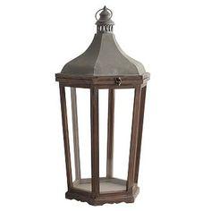Shutter Mango Wood Lantern - Natural | Pottery Barn Lantern Hooks, Lantern String Lights, Lanterns, Outdoor Candles, Tin Candles, Outdoor Lantern, Indoor Outdoor, Park Hill Collection, Street Lamp