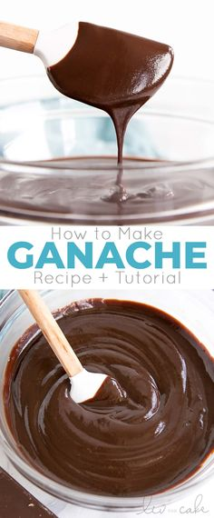 Everything you ever wanted to know about making Chocolate Ganache! A simple, two-ingredient recipe for a delicious frosting, filling, drip, or glaze. Chocolate Ganache Frosting, Chocolate Drip, How To Make Chocolate, Chocolate Oatmeal, Chocolate Cupcakes, White Chocolate, Köstliche Desserts, Best Dessert Recipes, Delicious Desserts