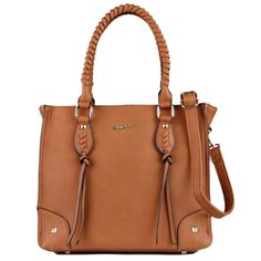 Lady Conceal Amy Studded Satchel Concealed Carry Purse
